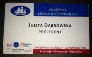 employer branding w Polsce zdjecie plakietki prelegentki