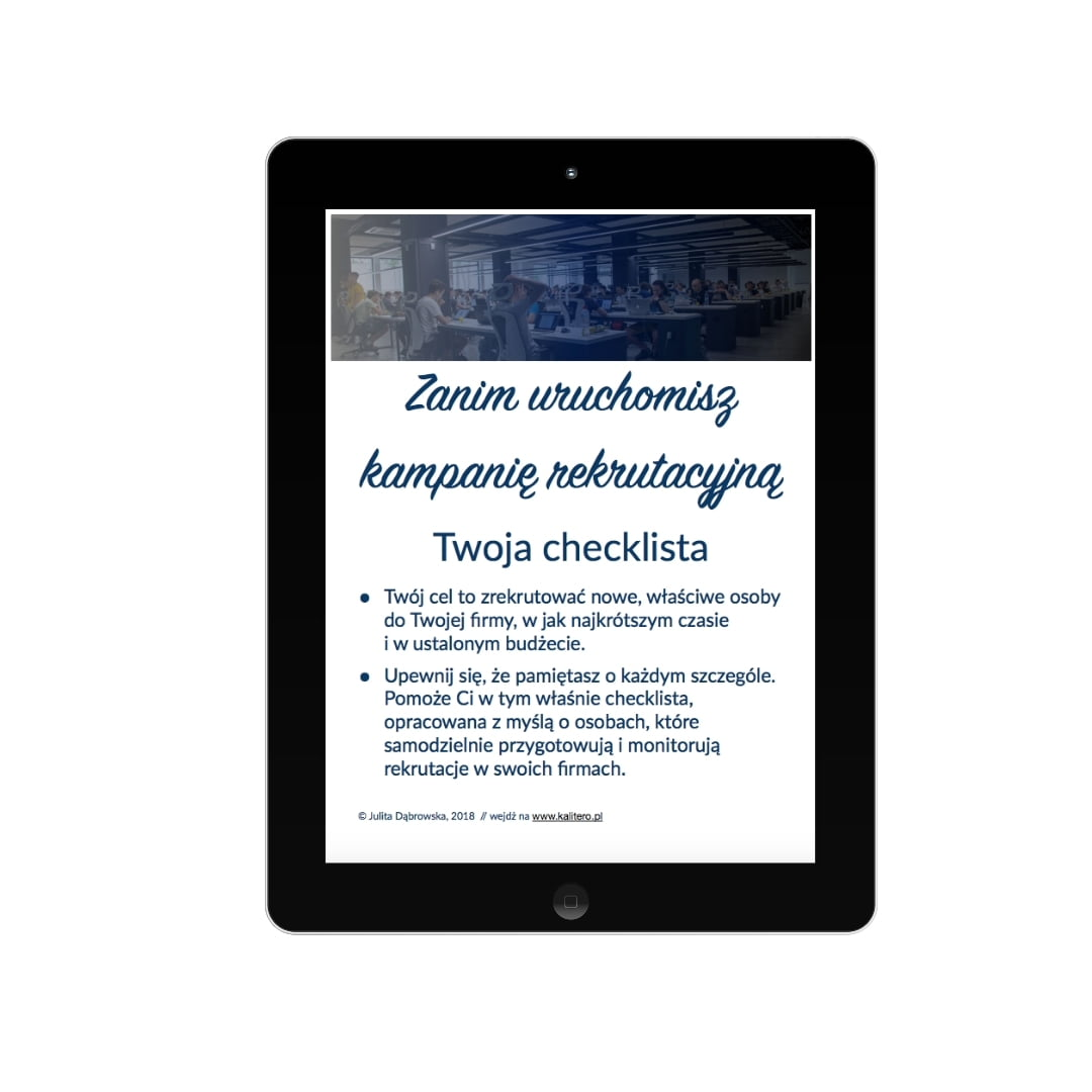 checklista rekrutacji